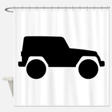 Jeep Outline Shower Curtain
