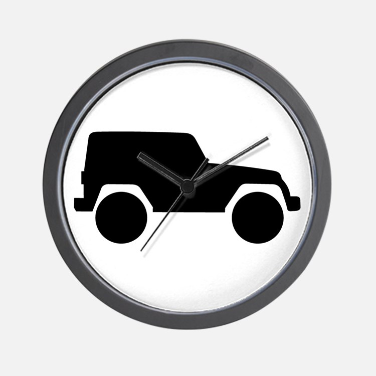 Jeep Outline Wall Clock