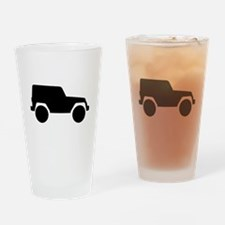 Jeep Outline Drinking Glass