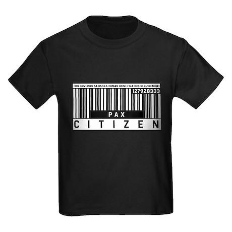 Pax Citizen Barcode, Kids Dark T-Shirt