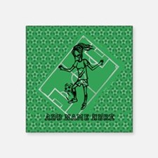 Personalized Soccer girl MOM design Square Sticker