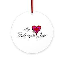My Heart Belongs to Jesse Ornament (Round)