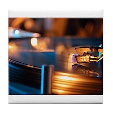 Needle on the Record Tile Coaster
