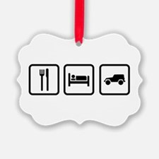 Eat Sleep Jeep Ornament
