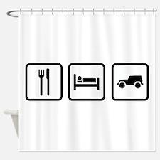 Eat Sleep Jeep Shower Curtain