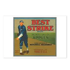 Best Strike Apples Labels Postcards (Package of 8)