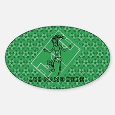 Personalized Soccer girl MOM design Sticker (Oval)
