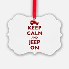 Keep Calm and Jeep On Ornament