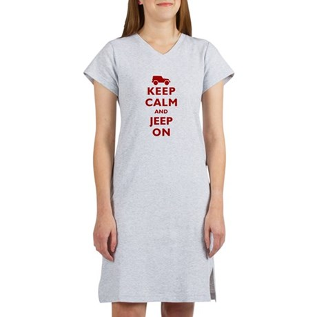 Keep Calm and Jeep On Women's Nightshirt