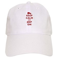 Keep Calm and Jeep On Baseball Cap
