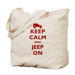 Keep Calm and Jeep On Tote Bag
