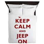Keep Calm and Jeep On Queen Duvet