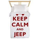 Keep Calm and Jeep On Twin Duvet
