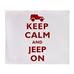 Keep Calm and Jeep On Throw Blanket