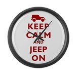 Keep Calm and Jeep On Large Wall Clock