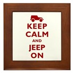 Keep Calm and Jeep On Framed Tile