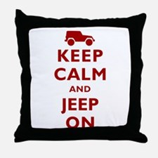 Keep Calm and Jeep On Throw Pillow