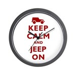 Keep Calm and Jeep On Wall Clock