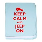 Keep Calm and Jeep On baby blanket