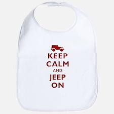 Keep Calm and Jeep On Bib