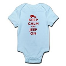 Keep Calm and Jeep On Infant Bodysuit