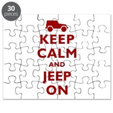 Keep Calm and Jeep On Puzzle