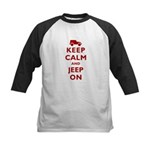 Keep Calm and Jeep On Kids Baseball Jersey