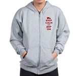 Keep Calm and Jeep On Zip Hoodie