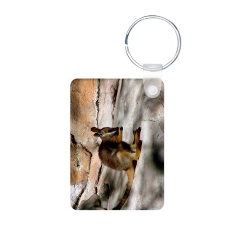 Yellow-Footed Rock Wallaby Aluminum Photo Keychain