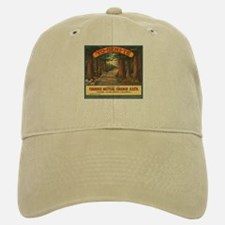 Yosemite Fruit Crate Label Baseball Baseball Cap