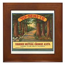 Yosemite Fruit Crate Label Framed Tile