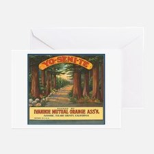 Yosemite Fruit Crate Label Greeting Cards (Package