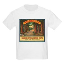 Yosemite Fruit Crate Label Kids T-Shirt
