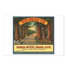 Yosemite Fruit Crate Label Postcards (Package of 8