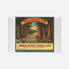 Yosemite Fruit Crate Label Rectangle Magnet