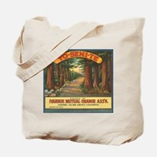 Yosemite Fruit Crate Label Tote Bag