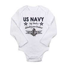 US NAVY My Uncle is defendingr freedom Body Suit