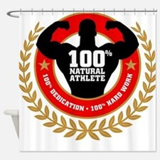 Natural Athlete Shower Curtain
