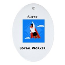 Cute Social work month Oval Ornament