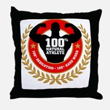 Natural Athlete Throw Pillow