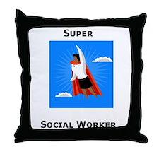 Cute Social work month Throw Pillow