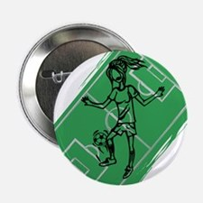 "Personalized Soccer girl MOM design 2.25"" Button"