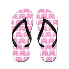 Pink Republican Elephant Flip Flops