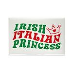 Irish Italian Princess Rectangle Magnet