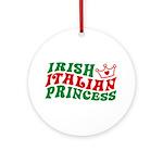 Irish Italian Princess Ornament (Round)
