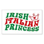 Irish Italian Princess Rectangle Sticker