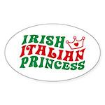 Irish Italian Princess Oval Sticker