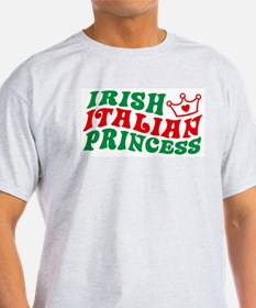 Irish Italian Princess Ash Grey T-Shirt