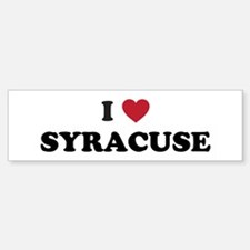 I Love Syracuse New York Bumper Bumper Sticker