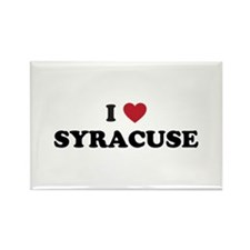 I Love Syracuse New York Rectangle Magnet